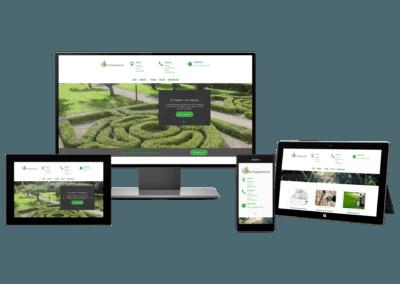 Moderna hemsidor för företag verskamma inom park och trädgårdsförvaltning