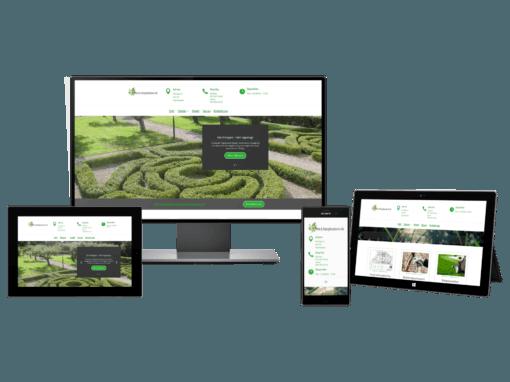 Hemsida för företag inom park och trädgård
